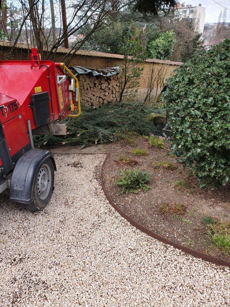 Elagueur Lyon spécialisé dans les travaux de broyage de déchets végétaux